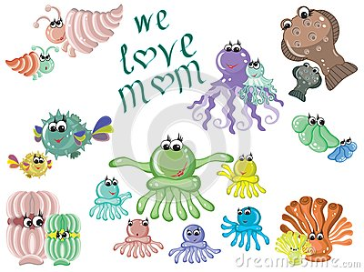 Mothers day,sea animals