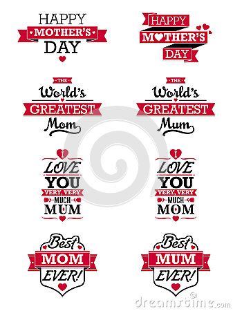 Free Mothers Day Text Elements Royalty Free Stock Image - 39997616