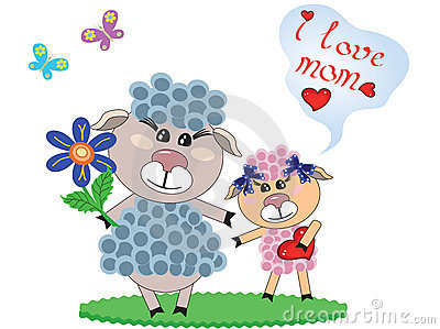 Mothers day ,two sheep