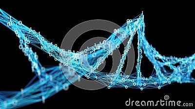 Motion Background Digital Binary Plexus DNA molecule Alpha Matte 4k Loop stock footage