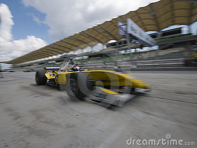 Motion blur of driver Fairuz fauzy Editorial Stock Image