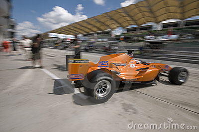 Motion blur of driver Jeroen Bleekemolen Editorial Image