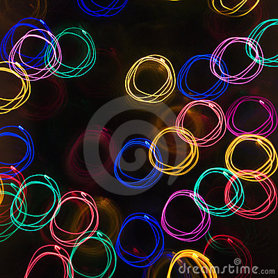 Motion blur light pattern.