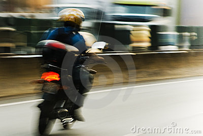 Motion blur motorcycle
