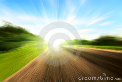 Motion blur road