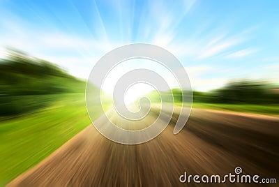 Motion blur road