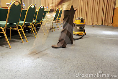 Motion blur Vacuum on carpet