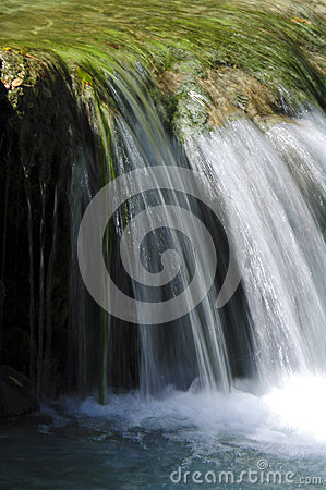 Motion blur waterfall