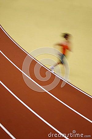Motion blurred runner