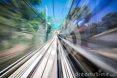 Motion shoot out of a moving train