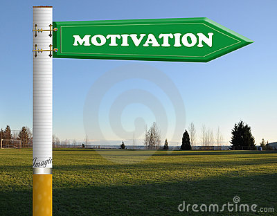 Motivation cigarette road sign