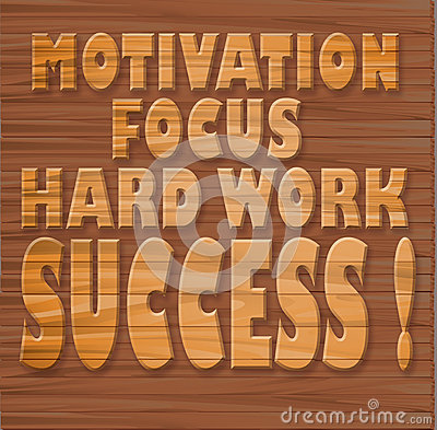 Motivation, focus, hard work, success !