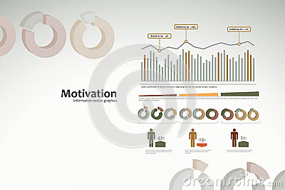 Motivation infographics with graphs and statistics