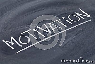 Motivation word on blackboard