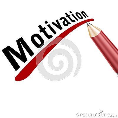 Motivation word unterlined