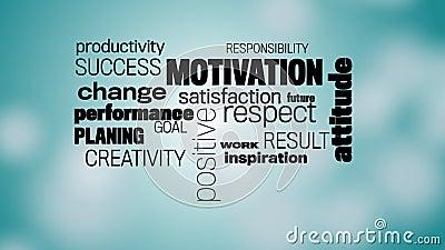 Motivation words cloud stock video