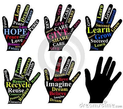 Motivational Words As Art on Human Hands