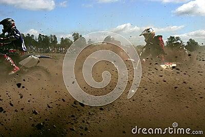 Moto cross action