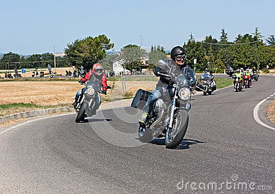 Moto Guzzi rally Editorial Photo