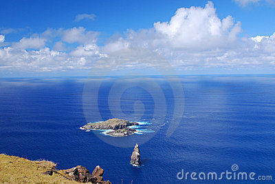 Moto Nui islet on Easter Island