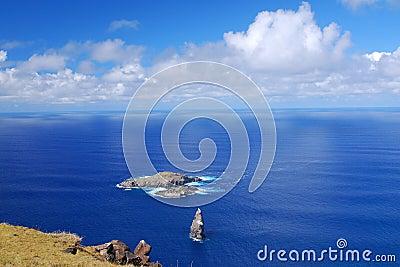 Moto Nui islet on Easter Island
