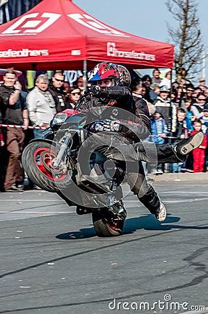 Moto stunt-riding Editorial Stock Image
