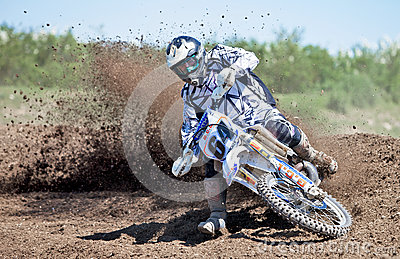 Moto-X dirt cloud Editorial Stock Photo