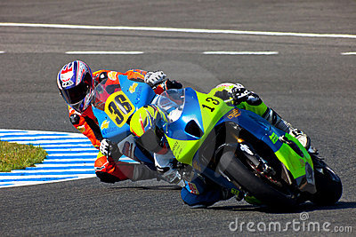 Moto2 pilot Renaud Binoche and Juan David Lopez Editorial Photo