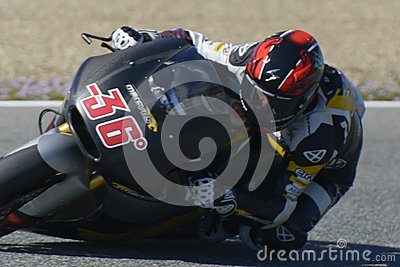 Moto2 test at Jerez racetrack - Day 2. Editorial Image
