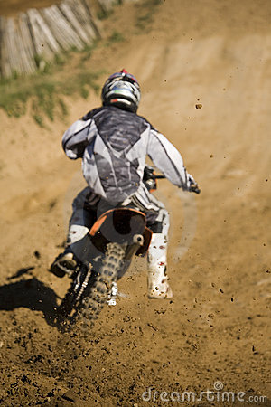 Motobike competion cross country