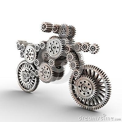 Motobike made of gears