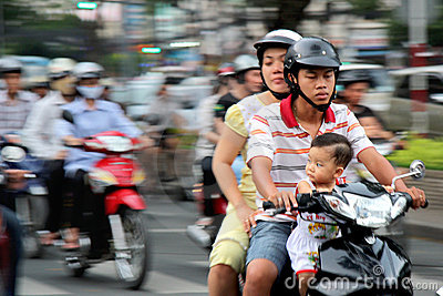 Motobikes au Vietnam Photo éditorial