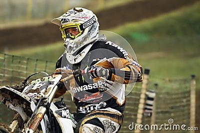 Motocross,Atanas Petrov 47. Editorial Image