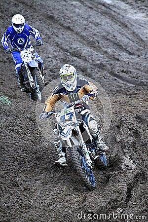 Motocross,Atanas Petrov 47. Editorial Stock Photo