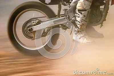 Motocross bike increase speed