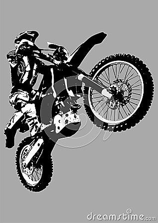 Motocross bike isolated on grey.