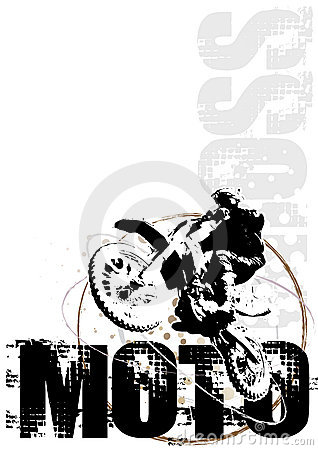 Motocross circle poster background red