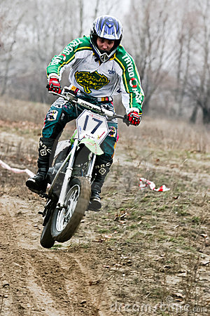 Motocross competition. Editorial Photo