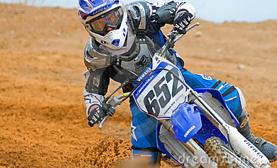 Motocross Concentration Editorial Photography