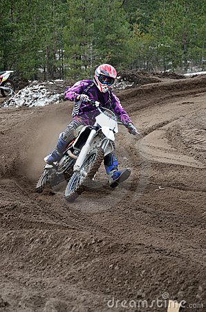 Motocross departure with out of left-turn
