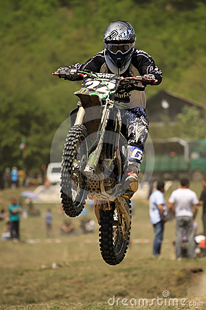 Motocross-jump. Editorial Stock Photo