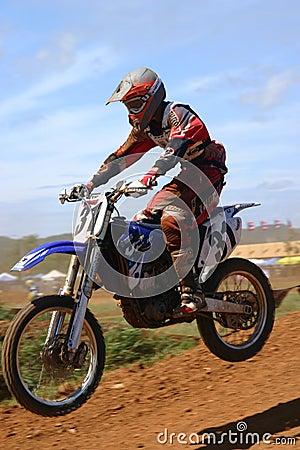 Motocross jump Editorial Stock Image