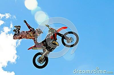Motocross jump Editorial Stock Photo