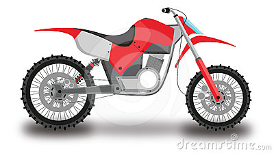 Motocross Motorcycle, Color Illustration