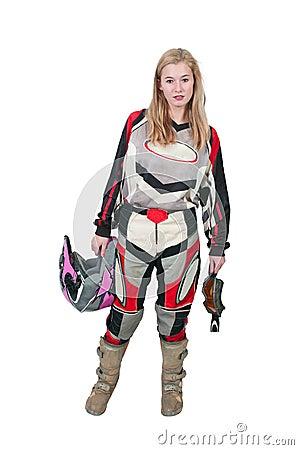 Motocross Motorcycle Girl