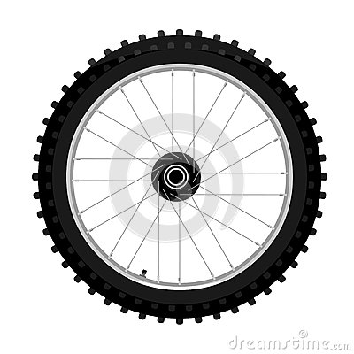 Free Motocross Motorcycle Wheel Side View Graffiti Style Isolated Illustration Stock Images - 93409964