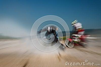 Motocross race impact