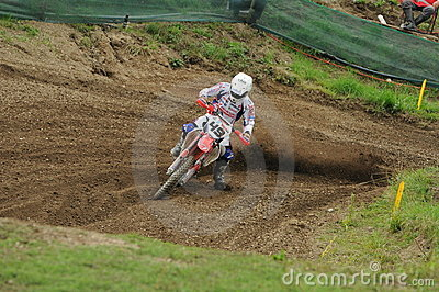 Motocross racer Editorial Stock Image