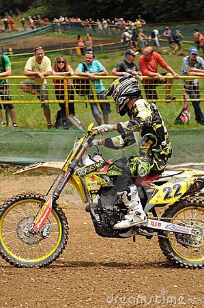 Motocross racer Editorial Stock Photo
