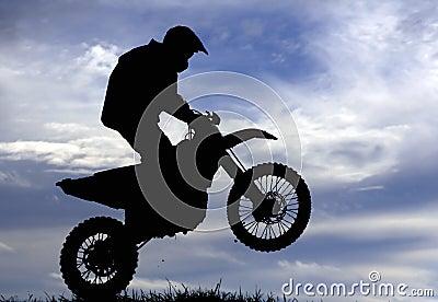 Motocross racer silhouette